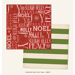 My Minds Eye - Sleigh Bells Ring Collection - Christmas - 12 x 12 Double Sided Paper - Noel