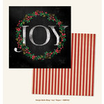 My Mind's Eye - Sleigh Bells Ring Collection - Christmas - 12 x 12 Double Sided Paper - Joy