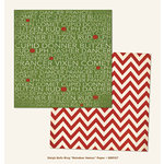 My Minds Eye - Sleigh Bells Ring Collection - Christmas - 12 x 12 Double Sided Paper - Reindeer Names