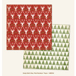 My Mind's Eye - Sleigh Bells Ring Collection - Christmas - 12 x 12 Double Sided Paper - Red Reindeers