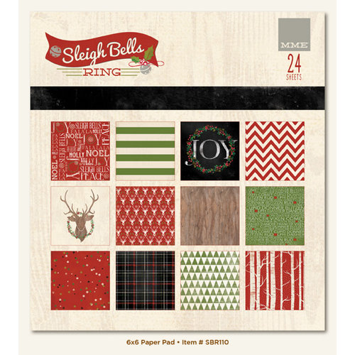 My Mind's Eye - Sleigh Bells Ring Collection - Christmas - 6 x 6 Paper Pad