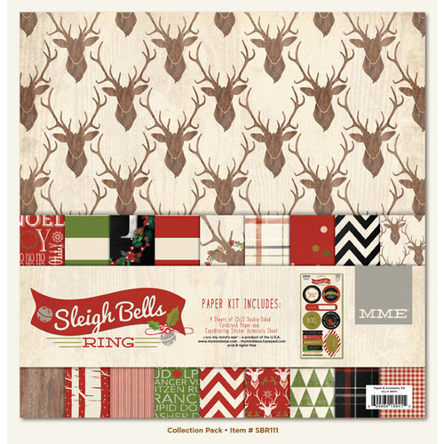 My Mind's Eye - Sleigh Bells Ring Collection - Christmas - 12 x 12 Paper Kit