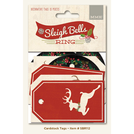 My Mind's Eye - Sleigh Bells Ring Collection - Christmas - Decorative Tags