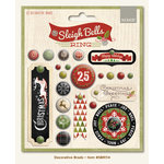 My Minds Eye - Sleigh Bells Ring Collection - Christmas - Decorative Brads