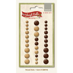 My Mind's Eye - Sleigh Bells Ring Collection - Christmas - Wood Dots