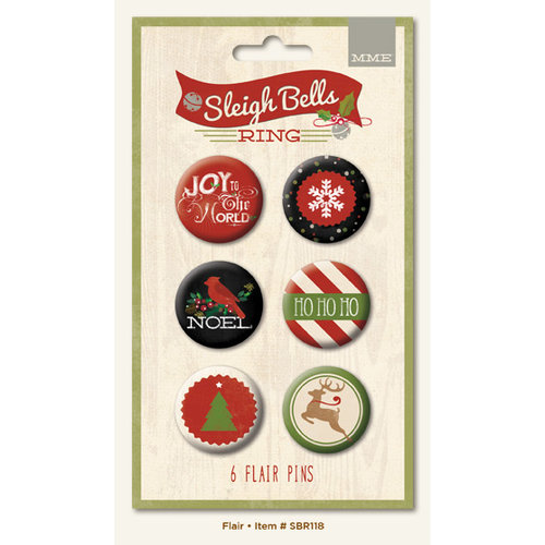 My Minds Eye - Sleigh Bells Ring Collection - Christmas - Flair Pins