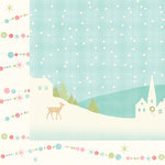 My Minds Eye - Sugar Plum Collection - Christmas - 12 x 12 Double Sided Paper with Glitter Accents - Sparkle