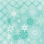 My Minds Eye - Sugar Plum Collection - Christmas - 12 x 12 Double Sided Paper with Glitter Accents - Flurry