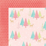 My Minds Eye - Sugar Plum Collection - Christmas - 12 x 12 Double Sided Paper with Glitter Accents - Wintry