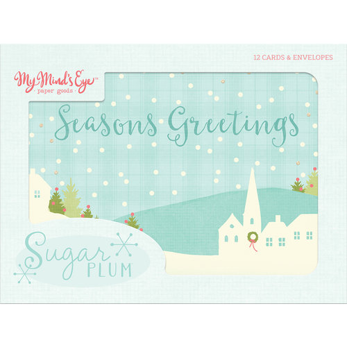 My Minds Eye - Sugar Plum Collection - Christmas - Card Set with Glitter Accents