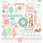 My Minds Eye - Sugar Plum Collection - Christmas - 12 x 12 Chipboard Stickers - Elements