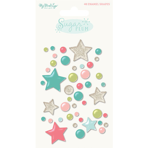 My Minds Eye - Sugar Plum Collection - Christmas - Enamel Shapes
