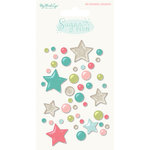 My Minds Eye - Sugar Plum Collection - Christmas - Enamel Shapes