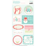 My Minds Eye - Sugar Plum Collection - Christmas - Cardstock Stickers with Glitter Accents