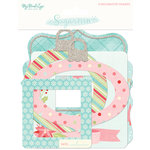 My Minds Eye - Sugar Plum Collection - Christmas - Chipboard Frames with Glitter Accents
