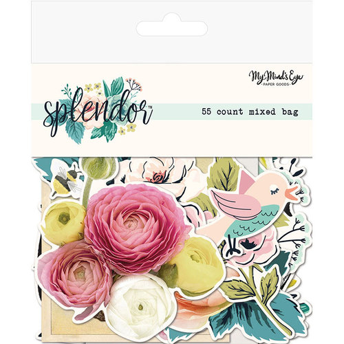 My Mind's Eye - Splendor Collection - Mixed Bag - Die Cut Cardstock Pieces