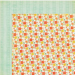 My Mind's Eye - The Sweetest Thing Collection - Tangerine - 12 x 12 Double Sided Paper - Happy Sunny