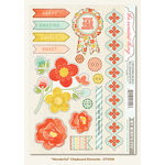 My Mind's Eye - The Sweetest Thing Collection - Tangerine - Chipboard Stickers - Wonderful Elements