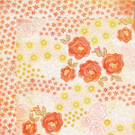 My Mind's Eye - The Sweetest Thing Collection - Tangerine - 12 x 12 Double Sided Paper - Wonderful Delightful