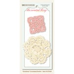 My Mind's Eye - The Sweetest Thing Collection - Tangerine - Crocheted Doilies - Sunshine