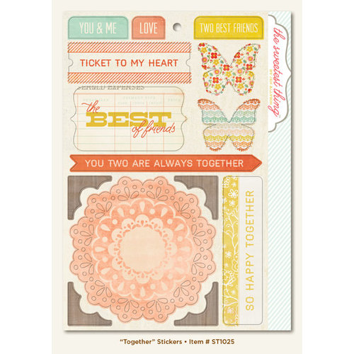 My Mind's Eye - The Sweetest Thing Collection - Tangerine - Cardstock Stickers - Together