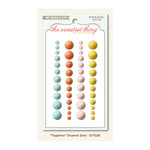 My Mind's Eye - The Sweetest Thing Collection - Tangerine - Self Adhesive Enamel Dots - Together