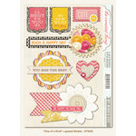 My Mind's Eye - The Sweetest Thing Collection - Honey - 3 Dimensional Stickers - One of a Kind