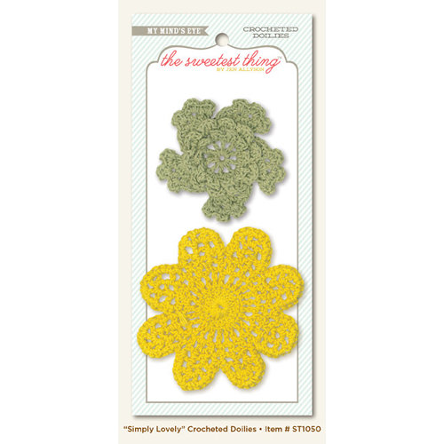 My Mind's Eye - The Sweetest Thing Collection - Honey - Crocheted Doilies - Dimply Lovely