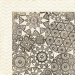 My Mind's Eye - The Sweetest Thing Collection - Honey - 12 x 12 Double Sided Paper - Simply Lovely Doily