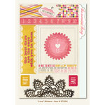 My Mind's Eye - The Sweetest Thing Collection - Honey - Cardstock Stickers - Love