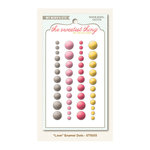 My Mind's Eye - The Sweetest Thing Collection - Honey - Self Adhesive Enamel Dots - Love