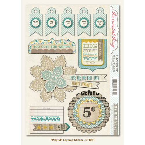 My Mind's Eye - The Sweetest Thing Collection - Bluebell - 3 Dimensional Stickers - Playful