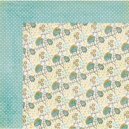 My Mind's Eye - The Sweetest Thing Collection - Bluebell - 12 x 12 Double Sided Paper - Bright Blossom