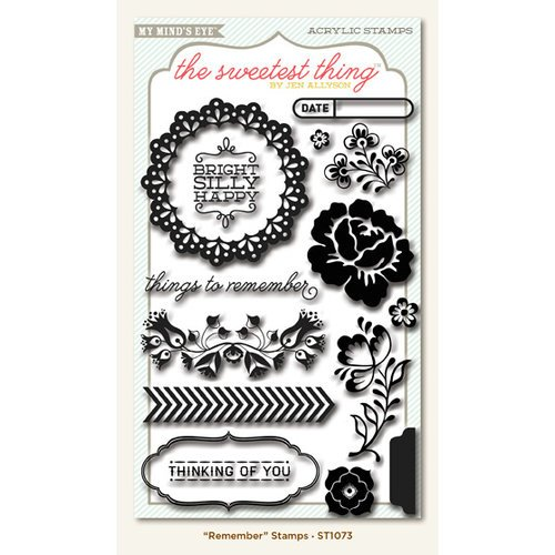 My Mind's Eye - The Sweetest Thing Collection - Bluebell - Clear Acrylic Stamps - Remember