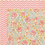 My Mind's Eye - The Sweetest Thing Collection - Lavender - 12 x 12 Double Sided Paper - Fabulous Flowery