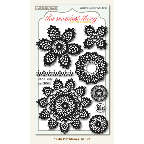 My Mind's Eye - The Sweetest Thing Collection - Lavender - Clear Acrylic Stamps - Cutie Pie