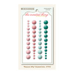 My Mind's Eye - The Sweetest Thing Collection - Lavender - Self Adhesive Enamel Dots - Reasons Why