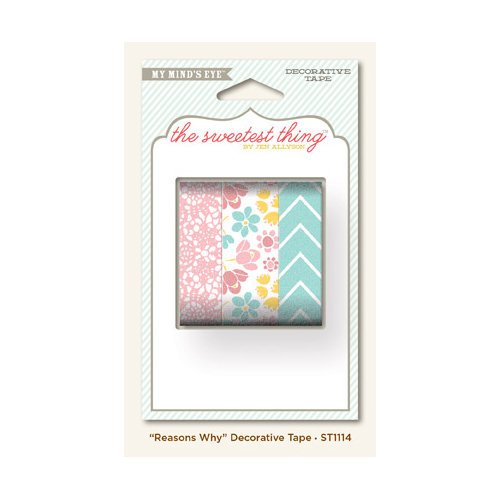 My Mind's Eye - The Sweetest Thing Collection - Lavender - Decorative Tape - Reasons Why