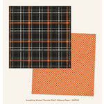 My Minds Eye - Something Wicked Collection - Halloween - 12 x 12 Double Sided Paper with Glitter Accents - Peculiar Plaid