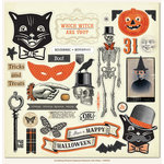 My Minds Eye - Something Wicked Collection - Halloween - 12 x 12 Chipboard Stickers - Elements