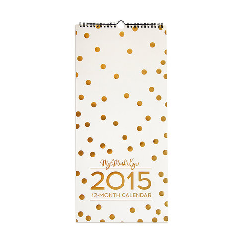 My Minds Eye - Trend Collection - Calendar with Pressed Foil Accents - 2015