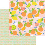 My Mind's Eye - Tutti Frutti Collection - 12 x 12 Double Sided Paper with Glitter Accents - Ambrosia