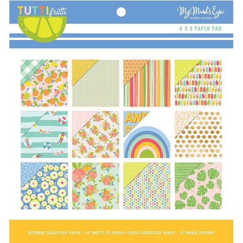My Mind's Eye - Tutti Frutti Collection - 6 x 6 Paper Pad with Foil Accents