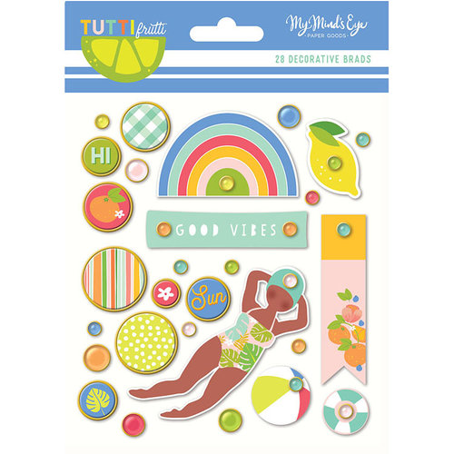 My Mind's Eye - Tutti Frutti Collection - Decorative Brads