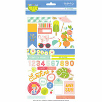 My Mind's Eye - Tutti Frutti Collection - Cardstock Stickers with Foil Accents