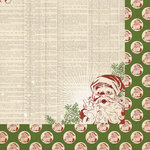 My Mind's Eye - Vintage Christmas Collection - 12 x 12 Double Sided Paper - Dictionary