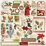 My Mind's Eye - Vintage Christmas Collection - 12 x 12 Cardstock Stickers
