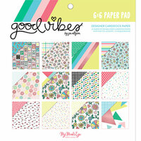 My Mind's Eye - Good Vibes Collection - 6 x 6 Paper Pad with Foil Accents