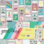 My Mind's Eye - Good Vibes Collection - 12 x 12 Paper and Accessories Kit with Foil Accents