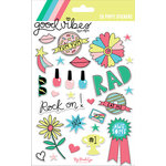 My Mind's Eye - Good Vibes Collection - Puffy Stickers with Foil Accents